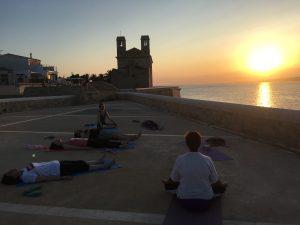 Cours de la retraite de Yoga et Ayurvéda Ile de Tabarca en Espagne